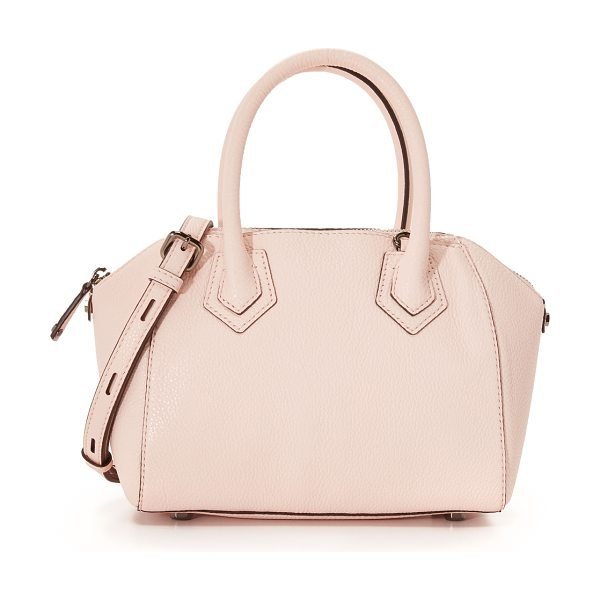 Rebecca Minkoff Micro perry satchel in pale blush - A Rebecca Minkoff satchel made from pebbled leather. 2...