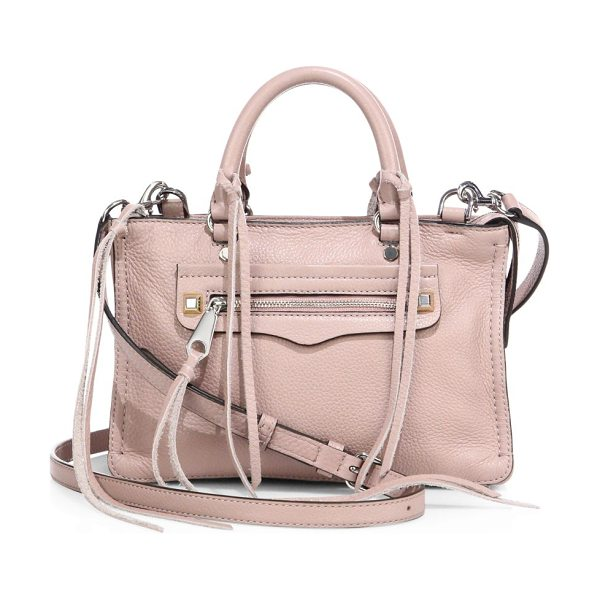 Rebecca Minkoff Micro regan leather satchel in vintagepink - Shrunken grainy leather satchel with tassel trimDouble...