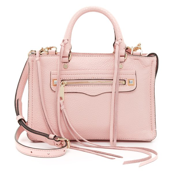 Rebecca Minkoff Micro regan satchel in baby pink - A scaled down Rebecca Minkoff satchel in soft, pebbled...