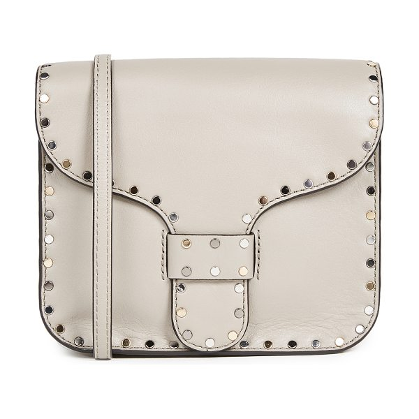 Rebecca Minkoff midnight mini messenger bag in taupe - A compact profile makes this leather Rebecca Minkoff...