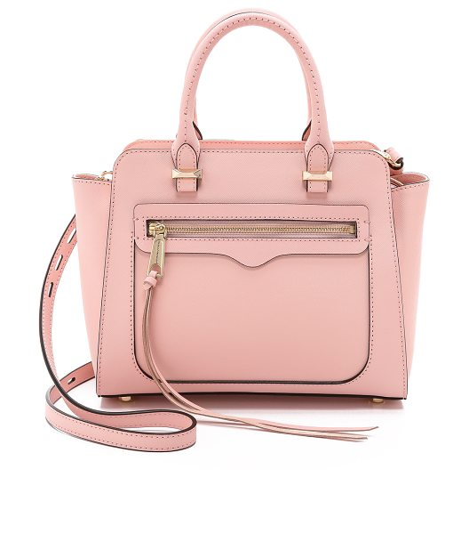 Rebecca Minkoff Mini avery tote in quartz - Structured saffiano leather brings a sophisticated...