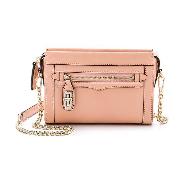 Rebecca Minkoff Mini crosby cross body bag in apricot - A slim Rebecca Minkoff cross body bag styled in rich...