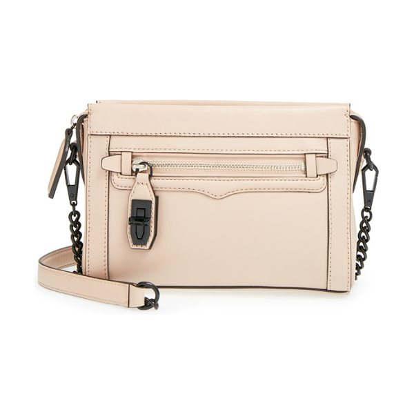 REBECCA MINKOFF Mini crosby crossbody bag in latte - Enameled hardware adds to the modern, minimalist allure...