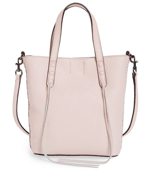 REBECCA MINKOFF mini leather tote - Buttery-soft pebbled leather adds a luxe feel to a...
