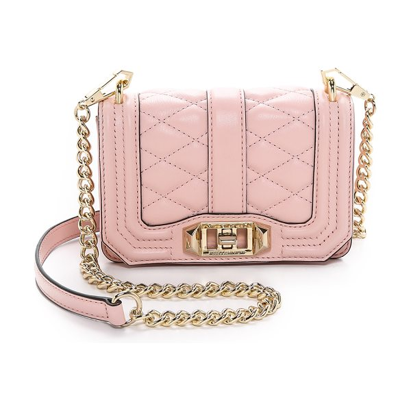 Rebecca Minkoff Mini love cross body bag in quartz
