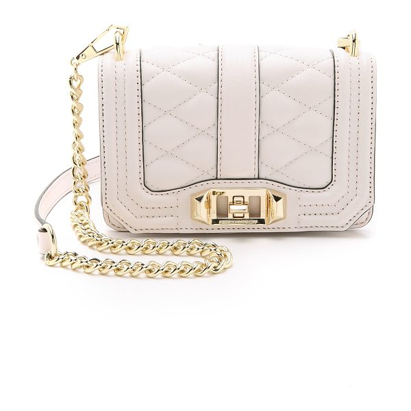Rebecca Minkoff Mini love cross body bag in seashell