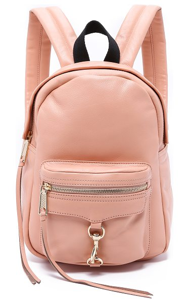 Rebecca Minkoff Mini mab backpack in apricot - A scaled down version of the signature MAB backpack from...