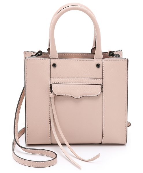 REBECCA MINKOFF Mini mab tote in latte - A scaled down version of Rebecca Minkoff's signature MAB...