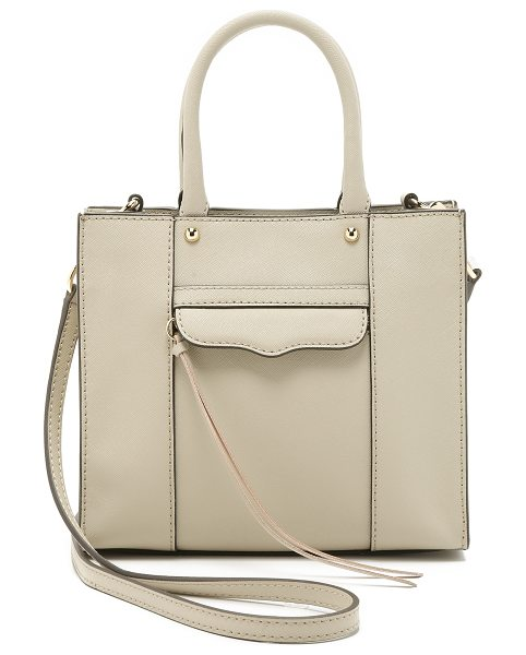 Rebecca Minkoff Mini mab tote in khaki - A scaled down version of Rebecca Minkoff's signature MAB...