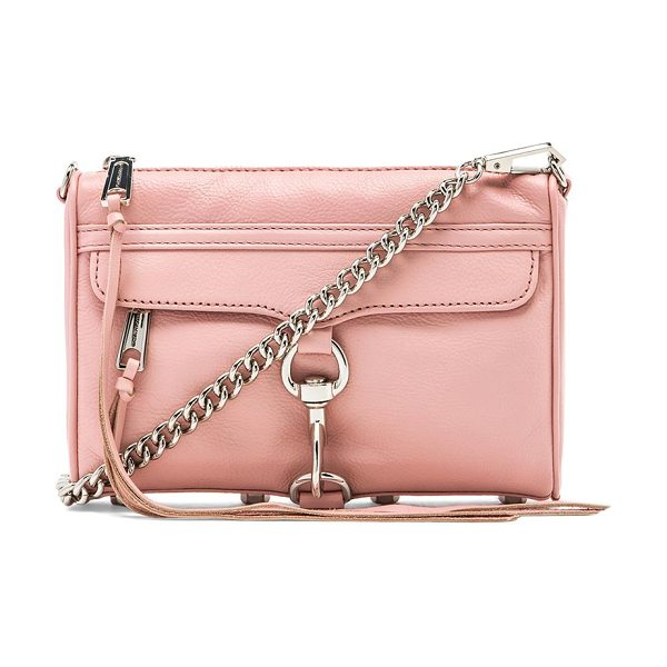 Rebecca Minkoff Mini mac in pink - Leather exterior with printed fabric lining. Measures...