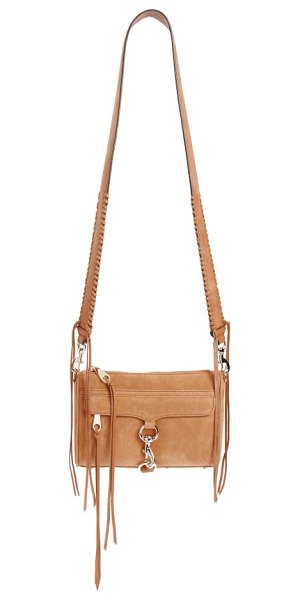 Rebecca Minkoff mini mac convertible crossbody bag in almond - A wide strap with whipstitched trim refreshes an iconic...