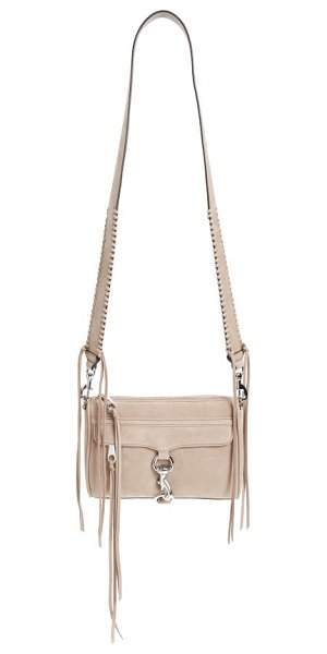 Rebecca Minkoff mini mac convertible crossbody bag in sandstone - A wide strap with whipstitched trim refreshes an iconic...