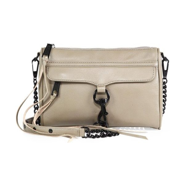 Rebecca Minkoff Mini mac convertible crossbody bag in sandstone