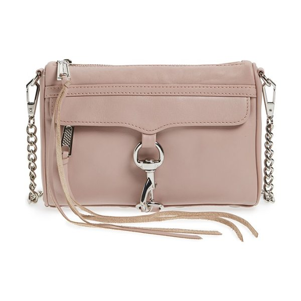 Rebecca Minkoff 'mini mac' convertible crossbody bag in vintage pink/ silver hrdwr