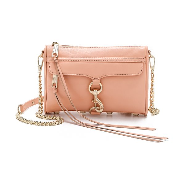 Rebecca Minkoff Mini mac cross body bag in apricot - A Rebecca Minkoff classic, rendered in soft leather....