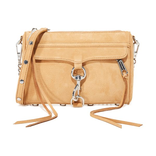 REBECCA MINKOFF mini mac cross body bag - A classic Rebecca Minkoff bag rendered in soft suede....