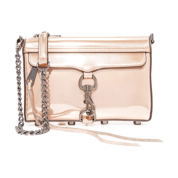 Rebecca Minkoff mini mac cross body bag in rose gold - A classic Rebecca Minkoff bag, rendered in metallic faux...