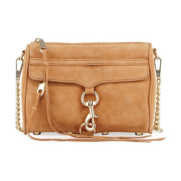 Rebecca Minkoff Mini MAC Nubuck Crossbody Bag in brown - Rebecca Minkoff crossbody bag in nubuck leather....