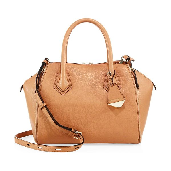 Rebecca Minkoff mini perry leather satchel in butter rum - Elegant structured satchel with a petite silhouette....