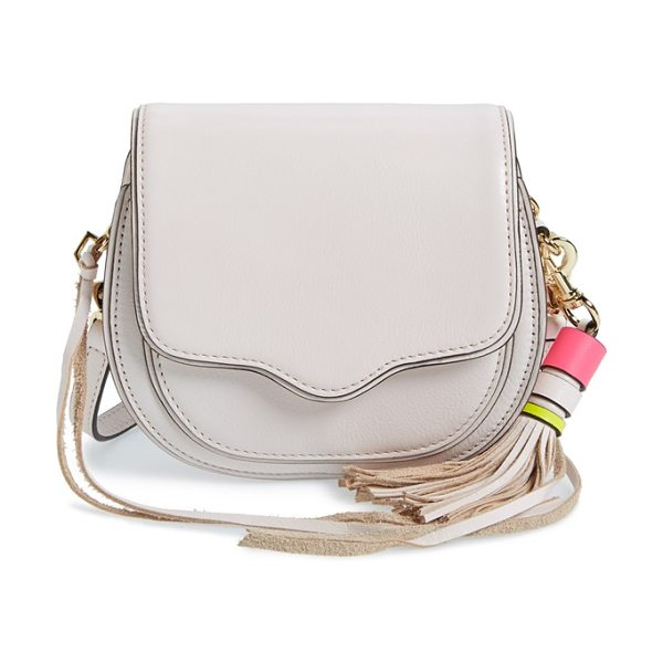 Rebecca Minkoff Mini sydney crossbody bag in seashell/ light gold - A signature curved flap adds upscale refinement to a...