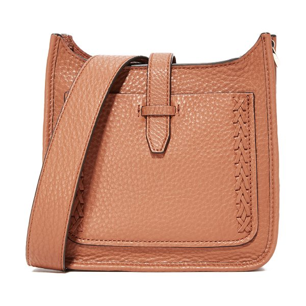 Rebecca Minkoff mini unlined feed bag in almond - A scaled-down Rebecca Minkoff bag in pebbled leather,...