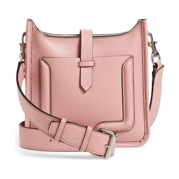 Rebecca Minkoff mini unlined leather feed bag in blossom - Trapunto-inspired detailing highlights the minimalist...