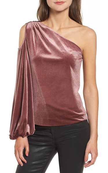 Rebecca Minkoff minka one shoulder top in mauve - One billowy sleeve does the statement-making of two in...