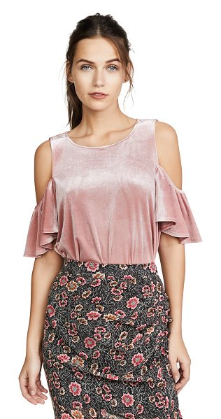 Rebecca Minkoff monsoon top in pale pink - A velvet Rebecca Minkoff blouse with shoulder cutouts...