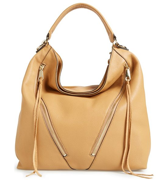 Rebecca Minkoff Moto hobo bag in cuoio/ light gold