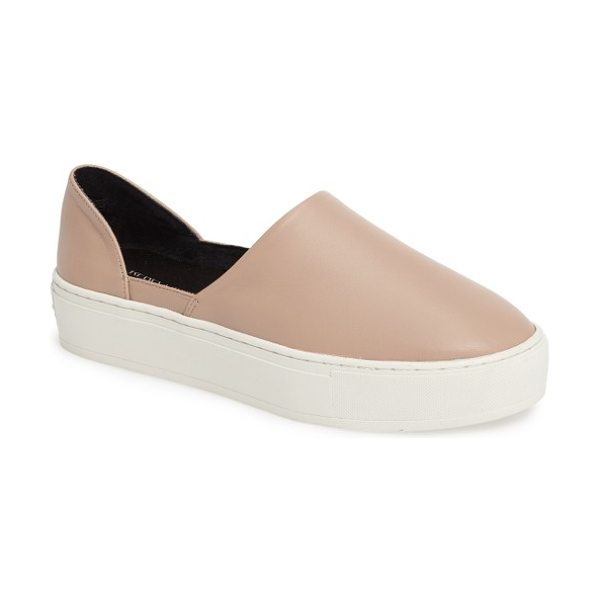 Rebecca Minkoff nana slip-on in nude - A classic slip-on is updated with a chic,...