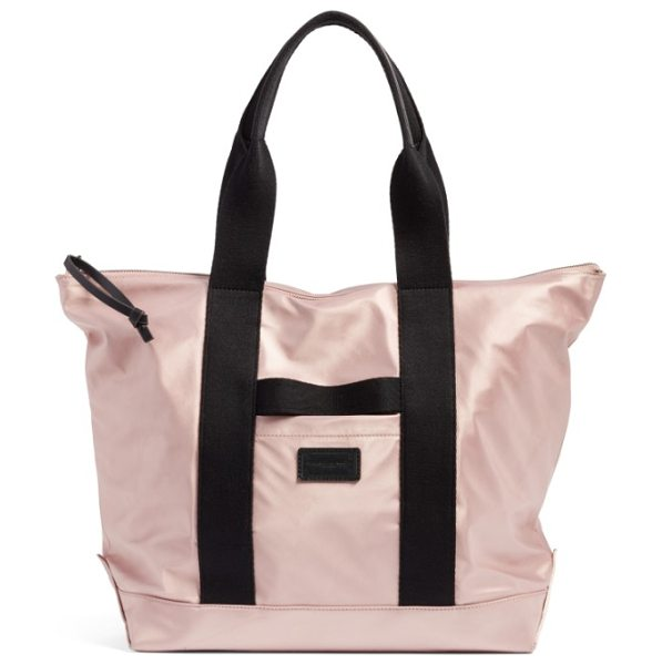 REBECCA MINKOFF satin nylon tote in dark vintage pink - Minimalist and chic, this spacious tote is cut from...