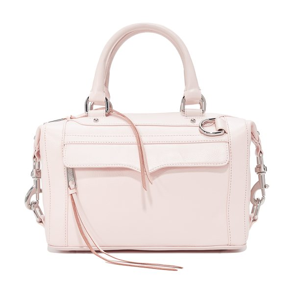 REBECCA MINKOFF original mab satchel in soft blush - A signature Rebecca Minkoff bag with polished spring...
