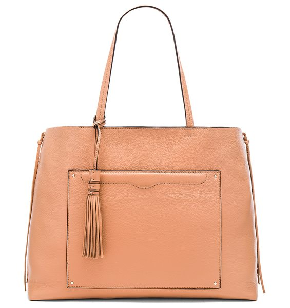 Rebecca Minkoff Panama tote bag in tan - Leather exterior and lining. Top clasp closure. Exterior...