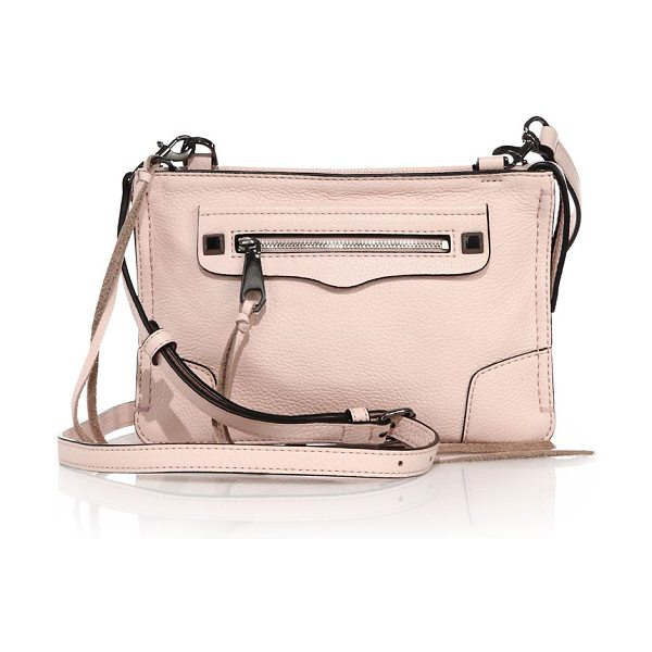 Rebecca Minkoff Regan leather crossbody bag in paleblush