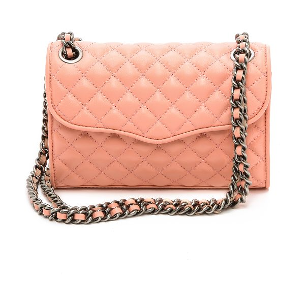 Rebecca Minkoff Quilted mini affair cross body bag in peach - Rich quilted leather puts a luxurious finish on a petite...