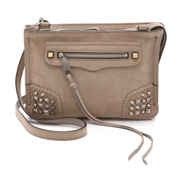 Rebecca Minkoff Regan cross body bag in sandstone - A nubuck Rebecca Minkoff cross body bag, accented with...
