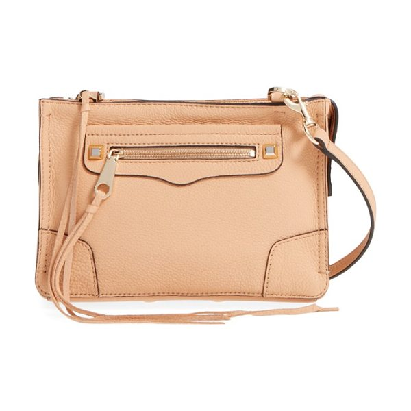 Rebecca Minkoff Regan crossbody bag in biscuit/ light gold hrdwr - A chic clutch shaped from supple leather features long,...
