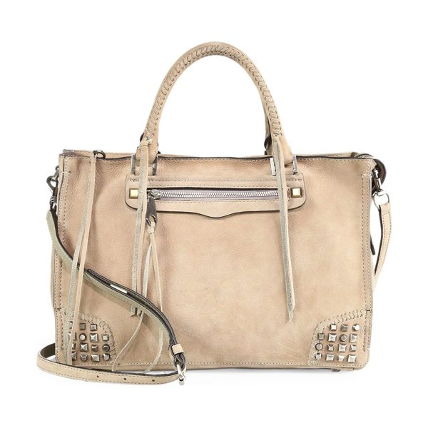 Rebecca Minkoff Regan leather satchel in sandstone - Crafted of softly grained leather, this chic satchel...