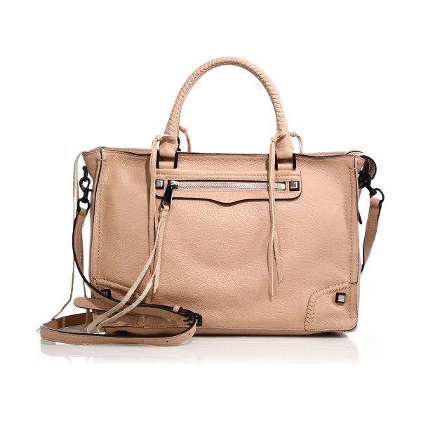 Rebecca Minkoff Regan leather satchel in latte - Crafted of softly grained leather, this chic satchel...