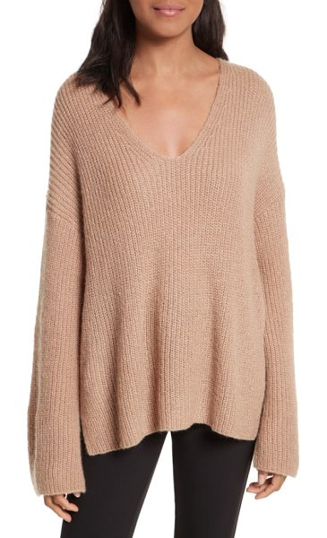 Rebecca Minkoff remi oversize sweater in camel - Better than a hug (almost), this lavishly oversized...
