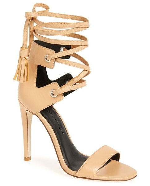 Rebecca Minkoff riley sandal in nude shiny leather