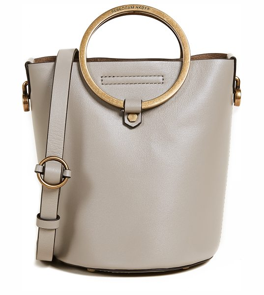 Rebecca Minkoff ring bucket bag in taupe