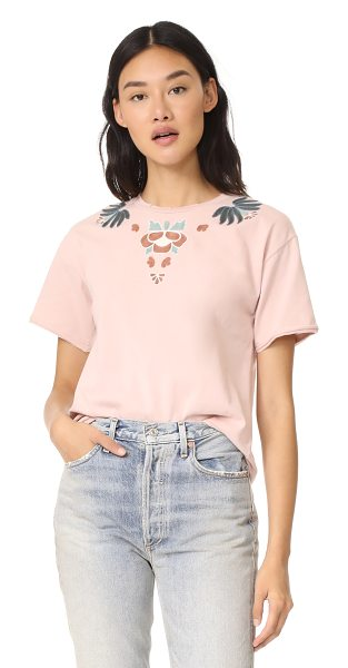 REBECCA MINKOFF ronnie tee with embroidery - Embroidered appliqués detail this Rebecca Minkoff tee....