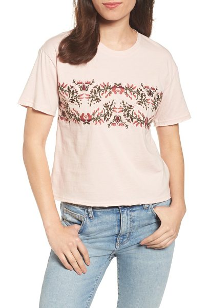 Rebecca Minkoff ronnie tee in light pink - Show off your love for the outdoors with this boxy...