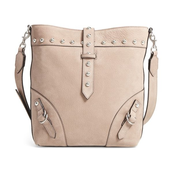 REBECCA MINKOFF rose leather bucket bag - Polished studs and buckle details add sophisticated edge...