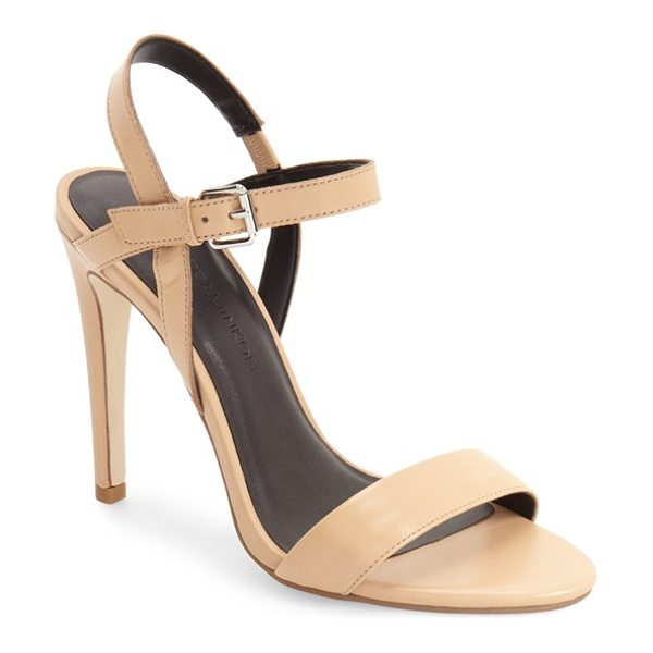 Rebecca Minkoff rosie sandal in nude nappa - An elegant sandal shaped from supple leather features a...