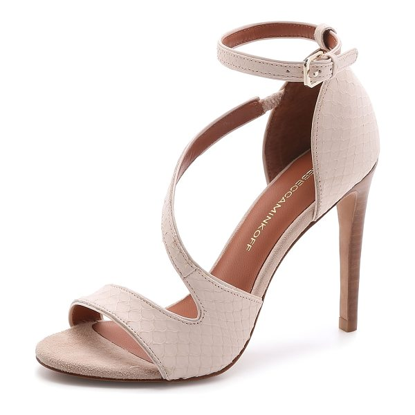 Rebecca Minkoff Roxanne sandals in blush - Luxe snakeskin brings unique texture to these Rebecca...