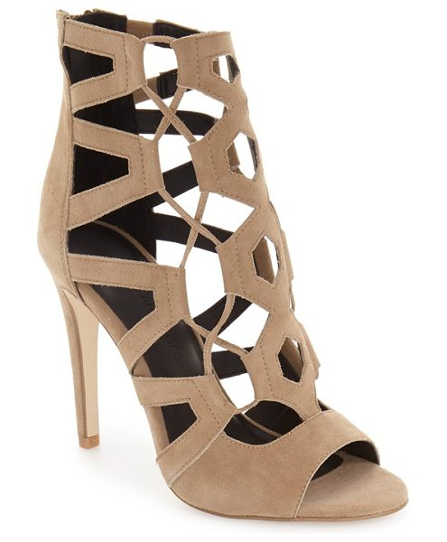 REBECCA MINKOFF roxie cage sandal - Geometric cage straps and crisscrossed laces heighten...