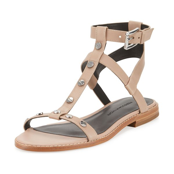 Rebecca Minkoff Sandy Studded Strappy Sandal in nude
