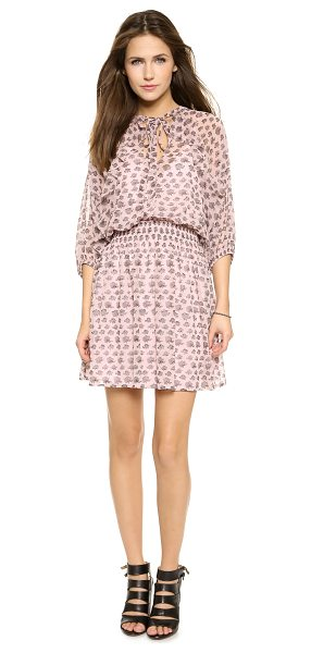 Rebecca Minkoff Shadow mini dress in hydrangea pink - Cascading ruffles trim the raglan seams on this crinkled...